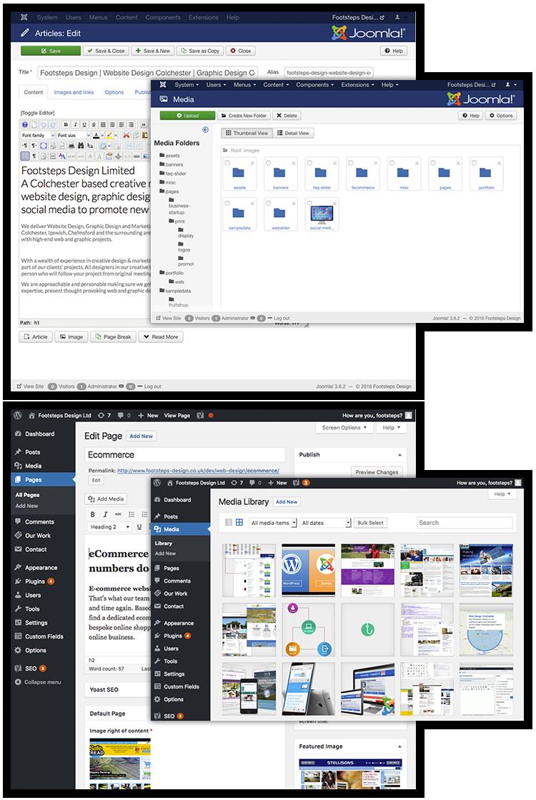 WordPress and Joomla Web Development