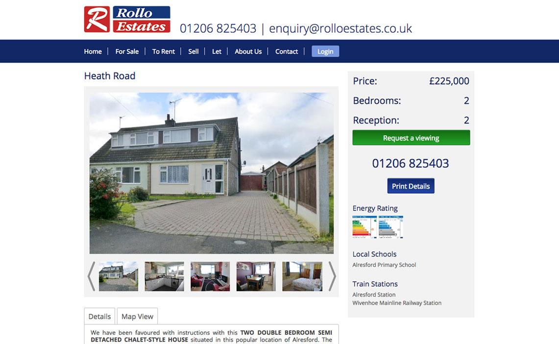 Estate Agents Web Design