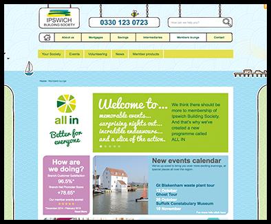 building society website development