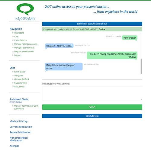live chat website development