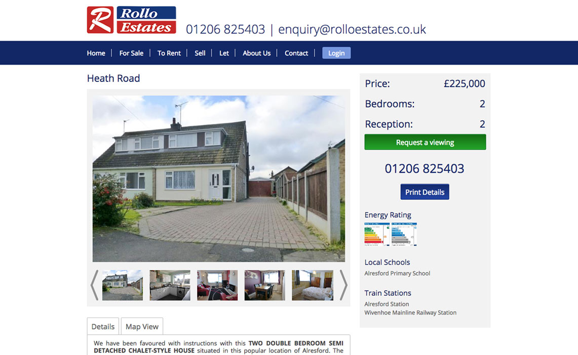estate agents web design
