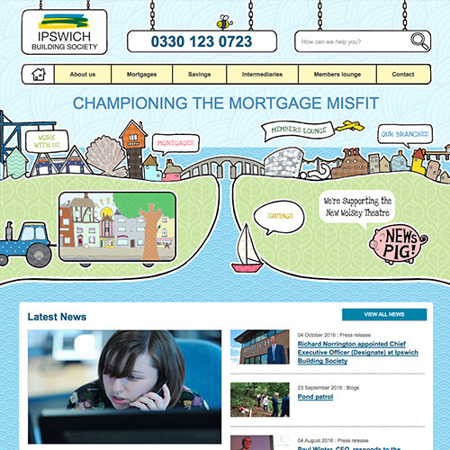 Ipswich Building Society Web Design thumb