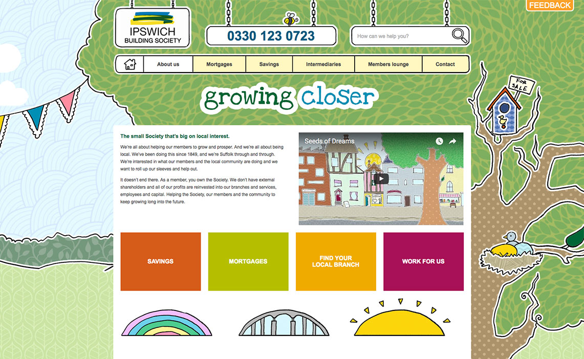 building society web design