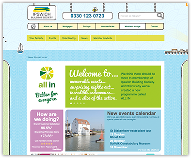 building society website development