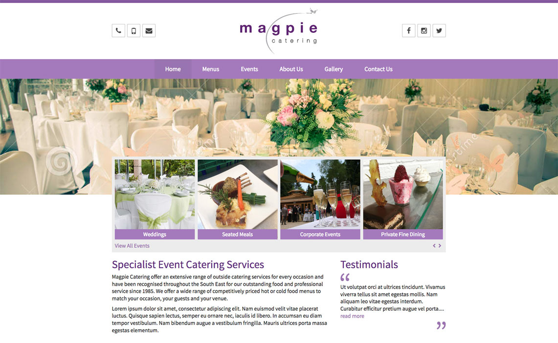 Catering Web Design
