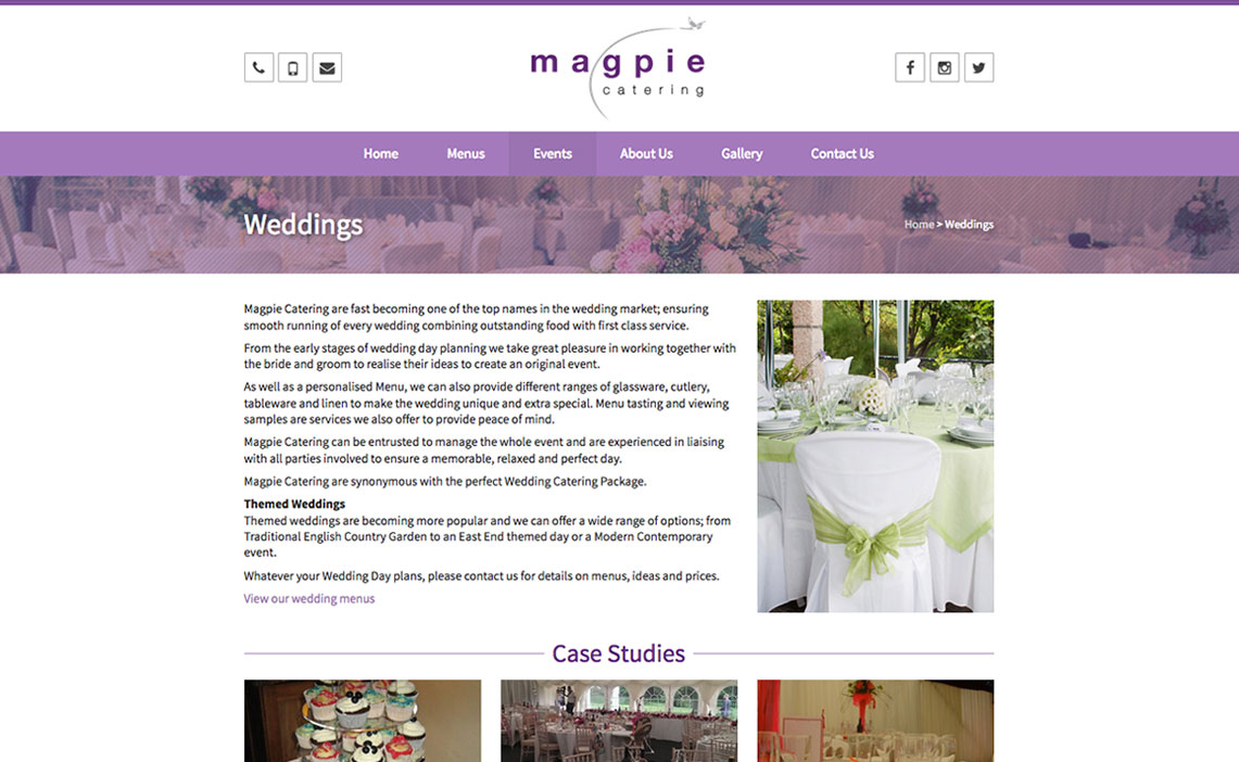 Magpie Catering | Footsteps Design Ltd