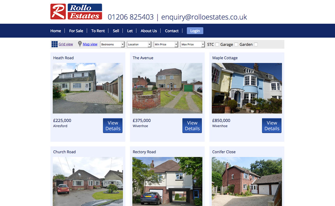 estate agents web development
