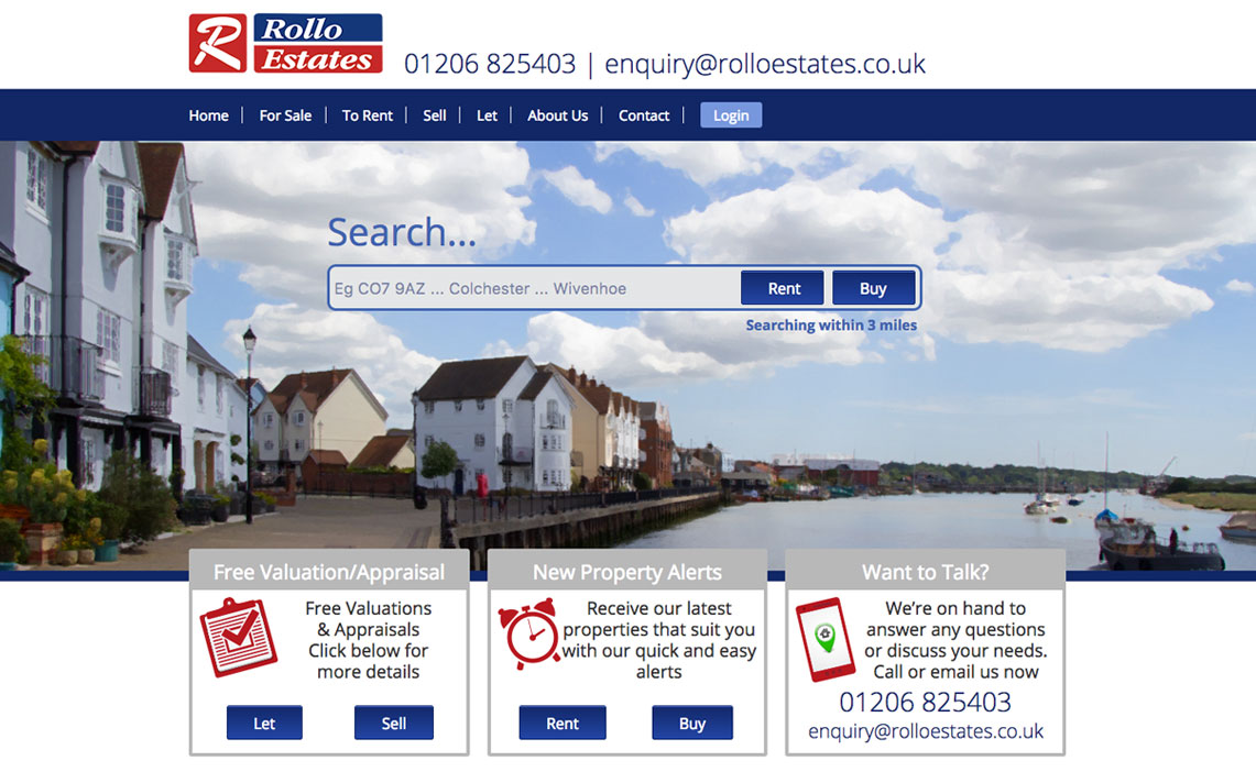 estate agents website