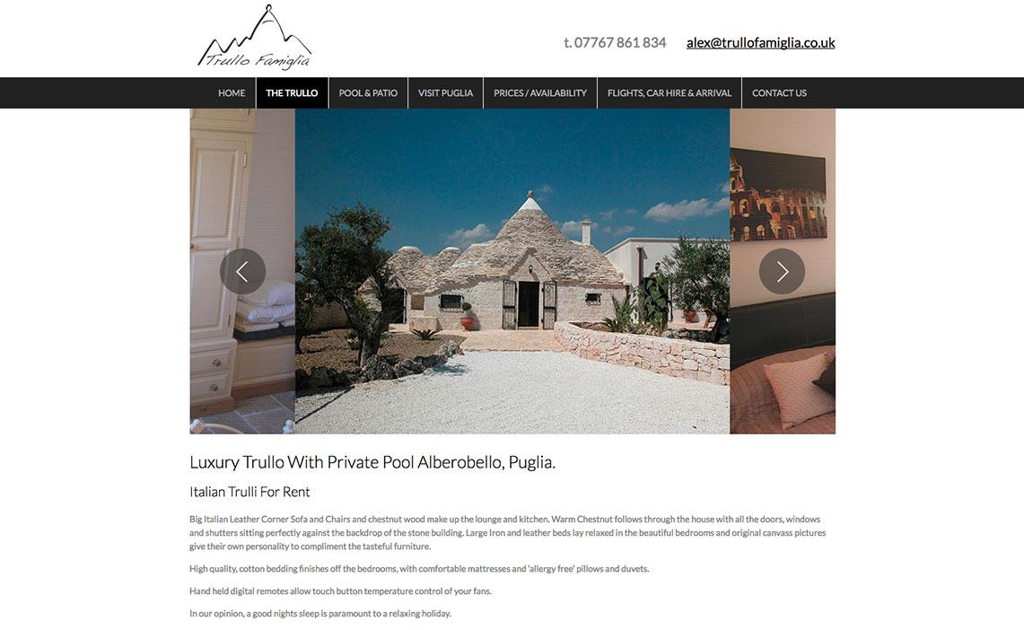 holiday home web design