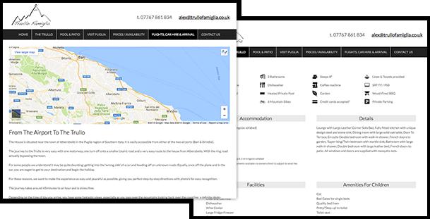 holiday resort web design