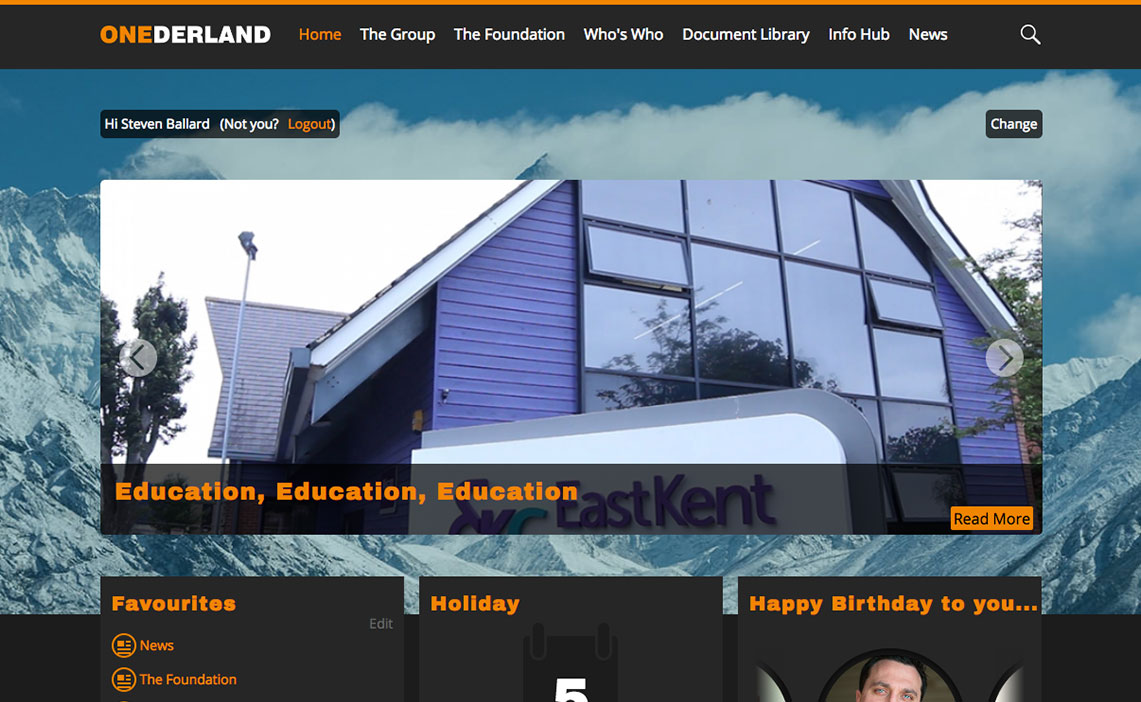 intranet website design