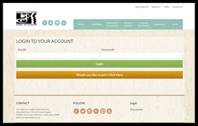 log in membership website