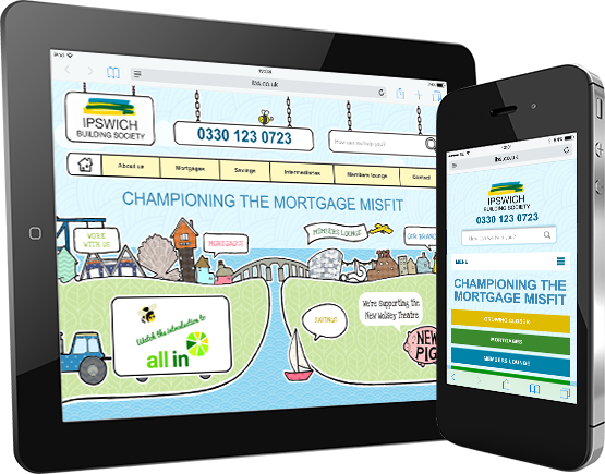 mobile and tablet web designs