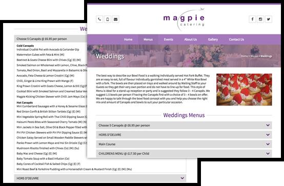 Magpie Catering | Footsteps Design Ltd