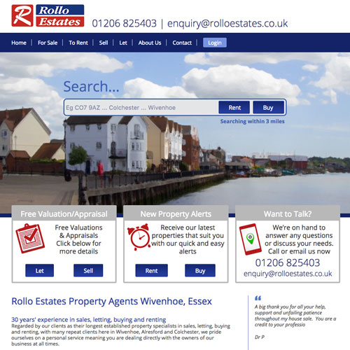 Estate Agent website Colchester