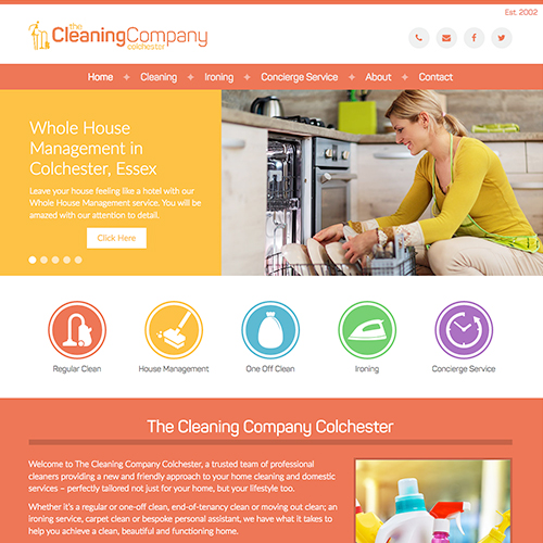 The Cleaning Company Colchester Web Design