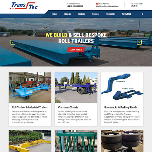 Transtec Website Design